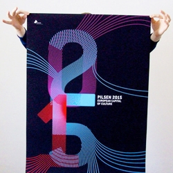 A really nice student project: typographical poster for Pilsen 2015