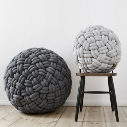 'Knotty' ottomans by the designer Sasha Fefelova for Kumeco.