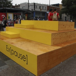 'Ex[pause]' street furniture by Stéphanie Leduc and Manuel Baumann in Montréal, Canada.