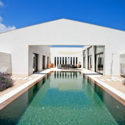 'Prefabricated villa' by German architect Stephen Nickel in Mallorca, Spain.