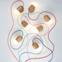'Light Bean' pendant lamps by Russian designer Katerina Kopytina.