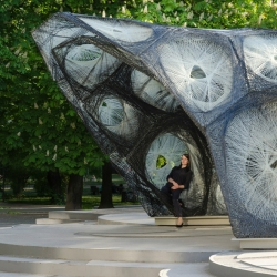 University of Stuttgart realized a carbon fiber pavilion based on beetle shells.