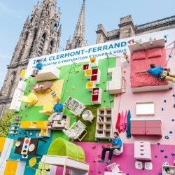 To celebrate the opening of Ikea Clermont-Ferrand, 30th Ikea store in France, Ikea teamed up with Ubi Bene to install a climbing wall covered with Ikea furniture.
