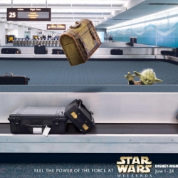 "Strictly for your eyes only, Disney has devised a set of whimsical ""backstage"" posters to promote awareness of 2009's Star Wars Weekends event among employees, images not generally made available to the public."