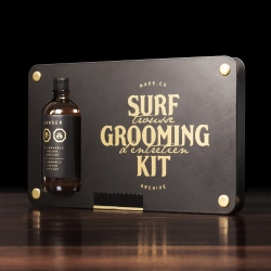 The Surf Grooming kit Noir edition, The most sophisticated maintenance kit for your surfboard on the market!