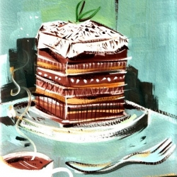 Artist Riki Takaoka draws or paints what he eats every day. [Editor's Note: i wonder if this makes one pick what they eat even MORE carefully...]