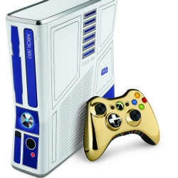 Microsoft has just announced a limited edition Star Wars themed Xbox 360 Kinect Bundle. An R2-D2 themed console with custom sounds, and a C-3PO themed controller are the highlights of the bundle.