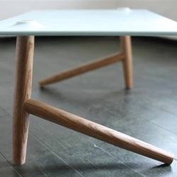 Two legs table. Designed and Manufactured by Shay Carmon & Ben Klinger.