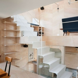 Japanese studio Flat House has designed this tiny home and shop in Tokyo, Japan. The footprint of this house, including the biscuit shop that is part of the house, is only 26sqm.