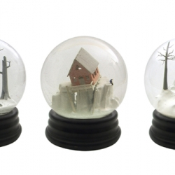 "Walter Martin and Paloma Munos have created an amazing new snow globe series entitled ""travelers"".  Sheer brilliance."