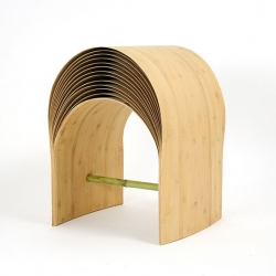 'Hangzhou' bamboo stool by Chinese designer Min Chen.