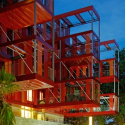 'Version Rubis' housing in Montpellier, France by French architect Jean-Paul Viguier.