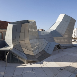 'Les Turbulences – FRAC Centre' cultural center by architects Jakob + MacFarlane in Orléans, France.