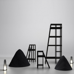 'Terrenoire' by French designer Marlène Janin, exhibition for the Paris Design Week.
