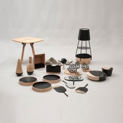 'Bois & Noir / Bois & Blanc' from the French Design Federation, in Carrousel du Louvre for Paris Design Week.