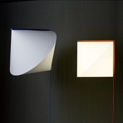 'Cône au carré' a lamp playing with perspective by French designer Célia Persouyre for the Paris Design Week.