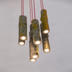 'Bio Mass Lights' pendant lamps by English designer Jay Watson.