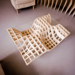 'Wooden Coffee Table' by Polish designer Mateus Zwojcicki.