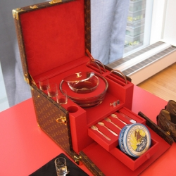 The Louis Vuitton caviar set...