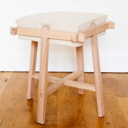 'Miss Mousse' a foam and wood stool by French designer Jules Levasseur.