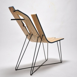 """Soft Wood"" chairs collection by French designer Jules Levasseur."