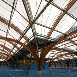'Tennis Club' by French studio Spoutnik Architecture in A Bourg-la-Reine, France.