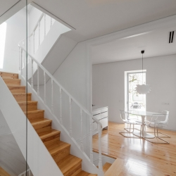 'Three Cups Chalet' minimalist loft by Portuguese architect Tiago Do Vale in Brag, Portugal.