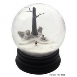 Such surreal fairy tale like scenes in these snow globes by walter martin & paloma munoz