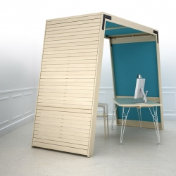 'L'arche' Wooden huts to modulate workspaces in Iwoodlove.