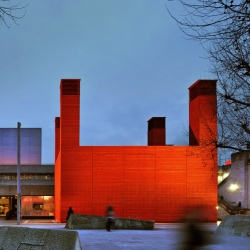 'The Shed' is a temporary venue for the National Theatre on London's South Bank designed by architects Haworth Tompkins.