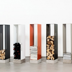 'Manhattan' metal and concrete shelves by Swedish designer Cornelia Norgren for Röshults.