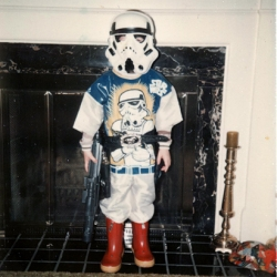 A fascinating snap of social history, a retro photography pool (for images taken between 1977 - 1985) to which now grown adults submit pictures of themselves 'Growing Up With Star Wars'.
