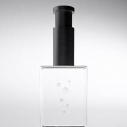 Clear perfume bottle by Nendo at Salone del Mobile 2010 – Galleria Antonia Jannone