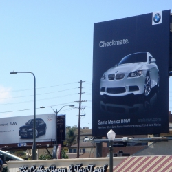 Awesome advertising move by BMW in Santa Monica.