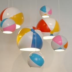 Toby Sanders' beach ball lamps and other wonderful things from the 2009 Milan Designersblock show