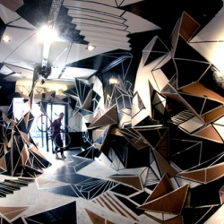 Installation from Clemens Behr in Galerie Seize located in Marseille.