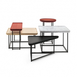 Torei, side tables by Italian designer Luca Nichetto for Cassina.