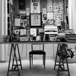 hedi slimane's look into the beauty and life of yves saint laurent.  an absolutely breathtaking collection of memories, treasures, loves and life.
