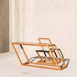 'The 60 series' furniture made in a 60° angle by Georgian studio XYZ Integrated Architecture.