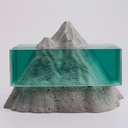 Glass and concrete sculptures by New Zealand artist Ben Young.