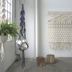 Brand new large-scale macramé work by Portland based artist/designer Sally England.