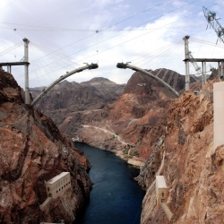 Due to be completed in 2010, the Hoover Dam Bypass bridge has slowly been taking shape. Here, with some amazing photographs is a record of this incredible bridge as it nears completion.