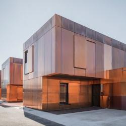 College de Labarthe-sur-Leze clad with copper. By French studio LCR Architectes.