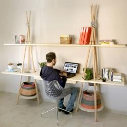 'Tipi' shelves by designer Assaf Israël for Joynout Studio.