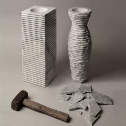 'Introverso 2' marble vase 'to destroy' by Italian designers Paolo Ulian & Moreno Ratti.