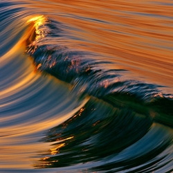 WAVES by David Orias - Stunning series of photographs capturing the oceans wave in abstracts of colors and lines.