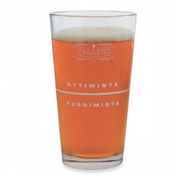 Pallino Pint Glasses ~ coolhunting reminded me i needed to post these ~ OTTIMISTA o PESSIMISTA? My kitchen is never complete without these in both sizes.
