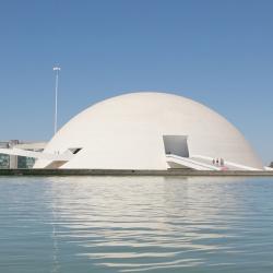 National Museum in Brasilia, DF, Brazil by Oscar Niemeyer.