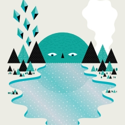 The Lake Keeper print from Andrew Groves.