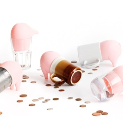 Greedy Piggy Bank - Turn everyday empty containers into you own personal piggy bank.